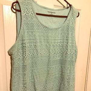 Cute tank with crochet front